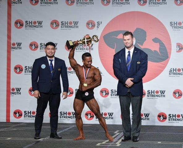 Overall Winner Men's Classic Physique - (#62) Hein Hein (Myanmar) - at the Show of Strength 2018