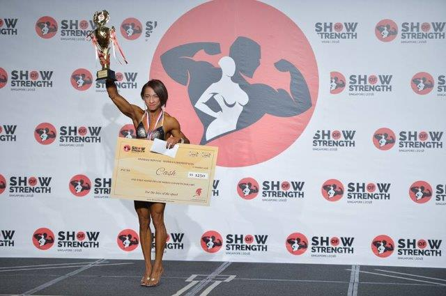 Overall Winner Women's Bodyfitness - (#24) Norlaily Jazam (Malaysia) - at the Show of Strength 2018-2