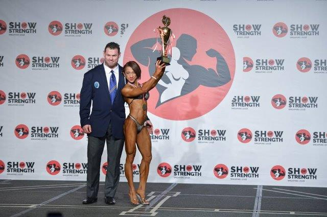Overall Winner Women's Bodyfitness - (#24) Norlaily Jazam (Malaysia) - at the Show of Strength 2018
