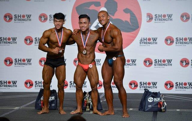 Winners of Men's Bodybuilding Juniors (Up to 23 Years Old) at the Show of Strength 2018-1