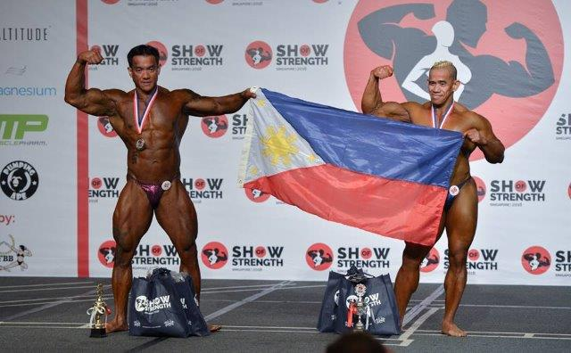 Winners of Men's Bodybuilding Masters (Over 40 Years Old) at the Show of Strength 2018