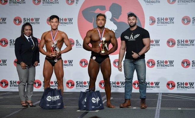 Winners of Men's Bodybuilding Newcomers (first time competitors) at the Show of Strength 2018