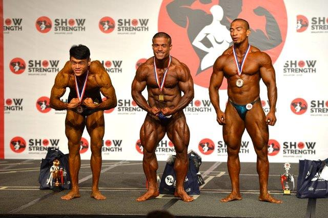 Winners of Men's Bodybuilding (Up to 75kg) at the Show of Strength 2018-1