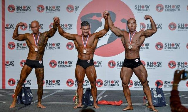 Winners of Men's Classic Physique Masters (Over 40 Years Old) at the Show of Strength 2018-1