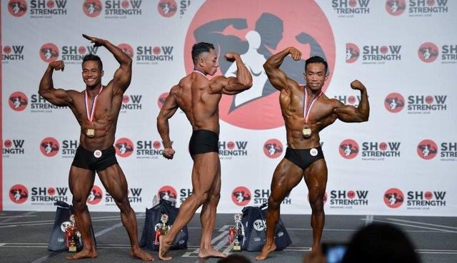 Winners of Men's Classic Physique Short (Up to 175cm) at the Show of Strength 2018-1