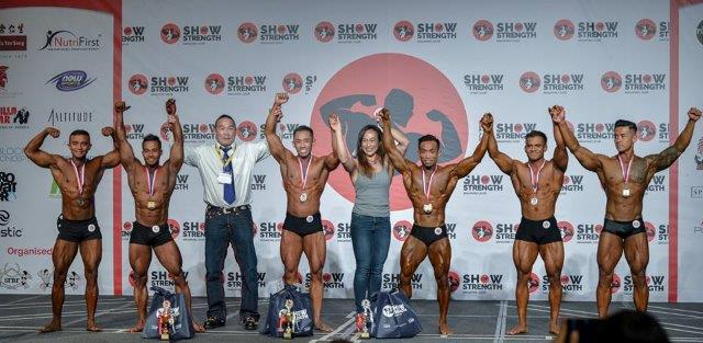 Winners of Men's Classic Physique Short (Up to 175cm) at the Show of Strength 2018