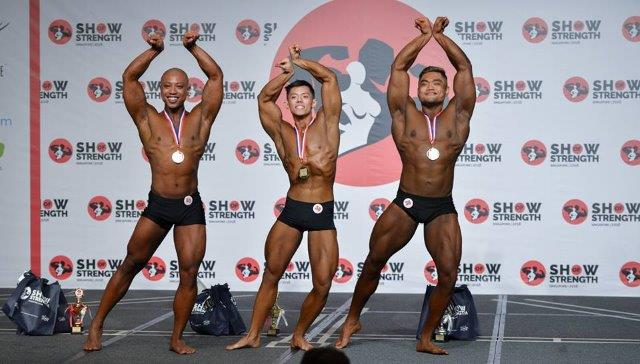 Winners of Men's Classic Physique Tall (Over 175cm) at the Show of Strength 2018-1