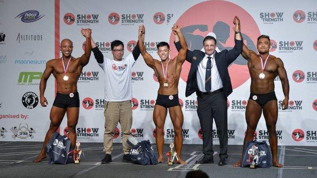 Winners of Men's Classic Physique Tall (Over 175cm) at the Show of Strength 2018