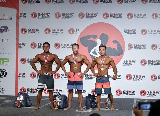 Winners of Men's Physique Short (Up to 175cm) at the Show of Strength 2018