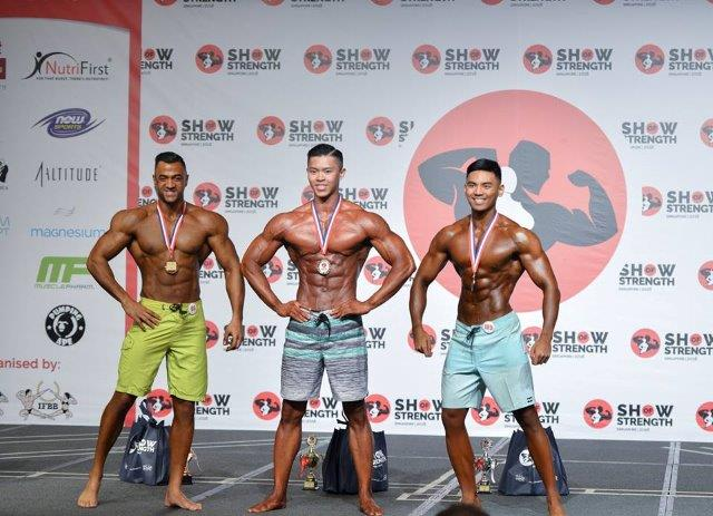 Winners of Men's Physique Tall (Over 175cm) at the Show of Strength 2018