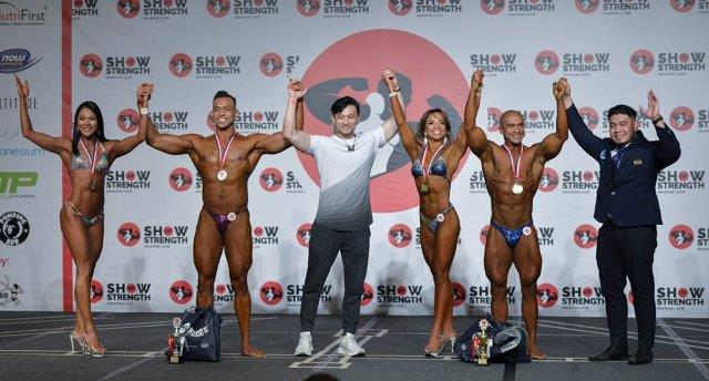 Winners of Mixed Pairs at the Show of Strength 2018