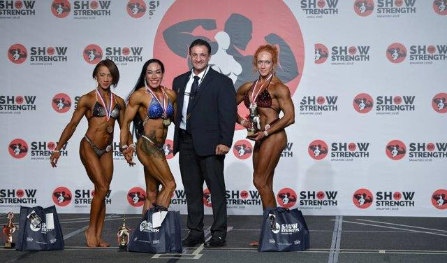 Winners of Women's Physique Open at the Show of Strength 2018