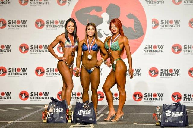 Winners of Women's Wellness Fitness at the Show of Strength 2018